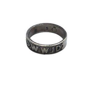 Premier Designs Size 5 925 Sterling Silver WWJD Vintage Band Ring